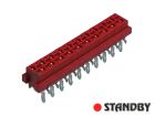 20 pin socket female straight Micro-MaTch
