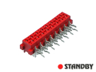 16 pin socket female angled Micro-MaTch