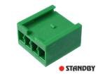 Crimp Snap-In Receptacle Housings, AMPMODU,4 pin