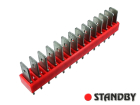 Spade terminal strip, straight, pin 14