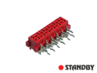 12 pin socket female angled Micro-MaTch