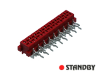 18 pin socket female angled Micro-MaTch