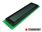 LCD Module 40x4 STN yellow green positive gray fonts