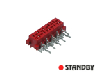 10 pin socket female angled Micro-MaTch